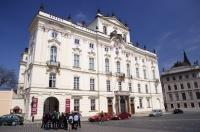 The Archbishops Palace in Prague in the Czech Republic dates back to the mid-15th century.