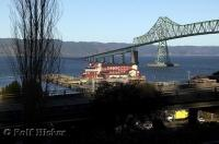 The town of Astoria in Oregon is located at the southern end of the 4 mile Astoria-Megler Bridge