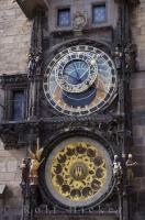 Part of the medieval world is the astronomical clock that adorns the Old Town Hall Tower in the Old Town District of Prague in the Czech Republic.