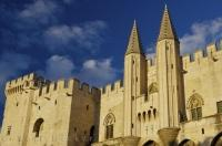 The Palais Des Papes is an impressive historic church that is a popular tourist attraction in Avignon, France in Europe.