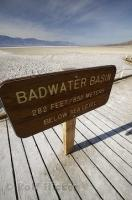 Situated in Death Valley National Park of California is the Badwater Basin at 282 feet below sea level.