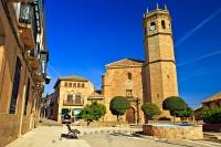 Built near the end of the fifteenth century, the Church of San Mateo (Iglesia de San Mateo) is situated in Plaza de la Constitucion in the town of Banos de la Encina, Andalusia, Spain.