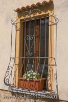 This style of Barred window is a common sight in the city of Volterra, Tuscany in Italy, and are used as much for decoration as for security.