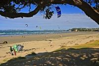 Beach Scene Orewa Hibiscus Coast NZ