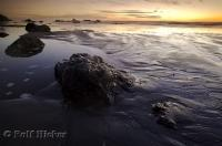 A sunset photo at Ruby Beach in the Olympic National Park of Washington, USA.