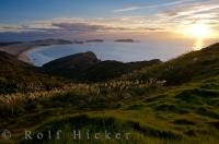 Beautiful Coastal Sunset Cape Reinga New Zealand