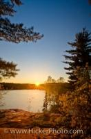Beautiful George Lake Scenery Killarney Provincial Park Ontario
