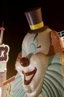 The clown face at the Boardwalk Hotel and Casino in Nevada, USA.