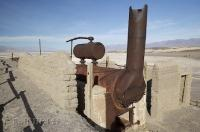 The remains of a desert industry, the Harmony Borax Works in Death Valley National Park, California, USA.