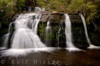 The pleasant Boyd Creek Falls are an easy 250metre walk from the carpark in Fiordland National Park, New Zealand.