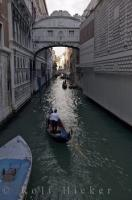 Once crossed by offenders on their way to be interrogated, the Bridge of Sighs now sees only tourists to Venice, Italy.