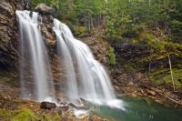 In beatuiful British Columbia, there are numerous waterfalls with each one seeming to be more beautiful than the next. These Rainbow Falls are located in Monashee Provincial Park in the Okanagan region of British Columbia, Canada.