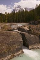 The natural bridge over the Kicking Horse River in the Yoho National Park is a Tourism mecca for British Columbia.