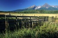 The Bulkley Valley is backdropped by the Babine Mountains in the East and the Hudson Bay Mountain range in the West.