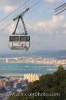 The view of the City of Gibraltar and the Bay of Algerciras is amazing from the Cable Car on its way to the top of the Rock of Gibraltar, a little slice of the United Kingdom in the Mediterranean.