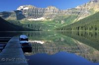 Just like glass, Cameron Lake situated in the Waterton Lakes National Park of Alberta, AB, Canada.