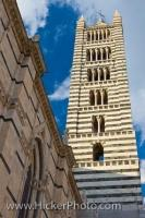 Campanile Bell Tower Siena Duomo Siena Tuscany Italy