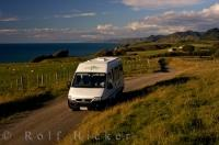 A camper van is the perfect way for traveling across the North island of New Zealand.