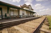The Camrose Railway Station is situated in the heart of the Camrose Heritage District in Alberta, Canada.