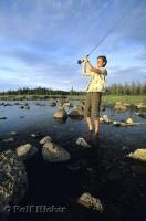 During a trip to the Northern Peninsula of Newfoundland in Canada, enjoy a spot of fly fishing.