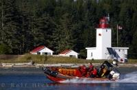 A powerful and fast boat in the fleet of the Canadian Coast Guard Auxiliary off the Pacific Coast of BC.