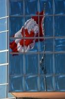 Canadian Flag Sackville Landing Building Halifax Nova Scotia