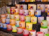 Candle Display Christmas Markets Bavaria Germany