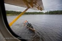 When visitors to the Woodland Caribou Provincial Park are finished their week long canoe adventure through the lakes and rivers in the region, they are then picked up by a De Havilland DHC-3 float plane by Chimo Air Service on Irvine Lake.