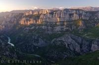 At sunset in the Verdon Canyon, one realizes what a masterpiece Mother Nature created in the Provence, France in Europe.