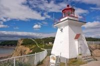 Cape Enrage Lighthouse Coastal Bay New Brunswick