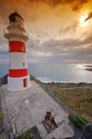 Cape Palliser Lighthouse Coastal Sunset New Zealand