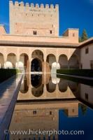 A tour of the Casa Real at the Alhambra brings the visitor to the Court of the Pool which reflects the image of the stunning Moorish architecture on its surface.