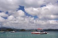 Catamaran Boat Bay Of Islands New Zealand