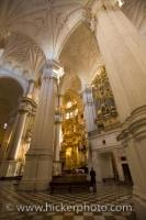 Granada Cathedral Interior Pillars Historic Architecture