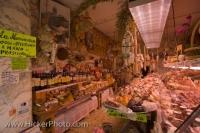 The central location of this well stocked meat shop in the old historic city centre of Florence in Tuscany, Italy makes it very easy for customers to find.
