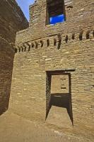 The architecture, evident throughout this Chacoan Great House at the Chaco Culture National Historic Park in the Chaco Canyon of New Mexico, was developed over many generations.