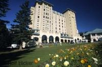 Spring time at the Fairmont Chateau Lake Louise in the Banff National Park of Alberta, Canada.
