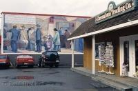 A wall mural beside the Chemainus Trading Co, one of many which made the Vancouver Island, BC town famous.