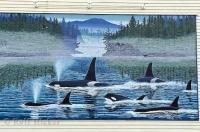 One of the icon wall murals in the town of Chemainus on Vancouver Island, British Columbia, BC, Canada.