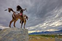 Native Chief Art Sculpture Osoyoos Okanagan