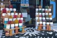 The shops in Chinatown in downtown Toronto, Ontario has many scents of incense on display.