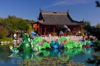 The Magic of Lanterns at the Chinese Garden of the Montreal Botanical Garden in Quebec, Canada is a spectacular display with a theme that changes every year.
