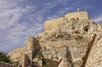 The cliff top castle in Morella in the Castellon region of Valencia, Spain has watched over the town for centuries.