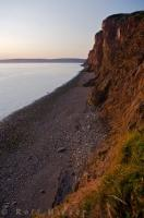 Dramatic Coastal Cliffs Sunset Beach Canadian Maritimes