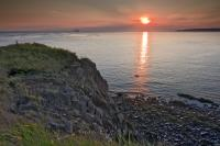 Coastal Sunset Scenery Cape DOr Bay Of Fundy Nova Scotia