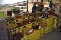 Colourful Village Market Stalls Provence France