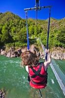 A great way to finish a visit to the Buller Gorge Swingbridge is to fly back across the Buller River on the Cometline. This attraction is situated along the Buller Gorge on the West Coast of the South Island of NZ.