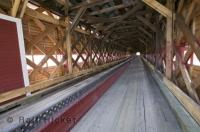 One of the many covered bridges in Quebec Canada, in Our Lady of Pines