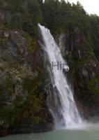 Knight Inlet waterfall