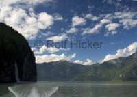 Waterfall Knight Inlet British Columbia